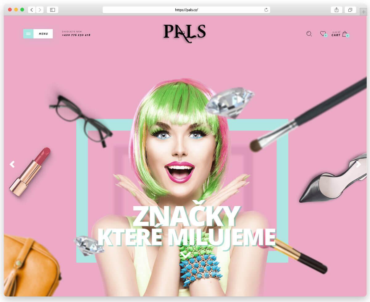 Оновлення сайту інтернет магазину Pals.cz.