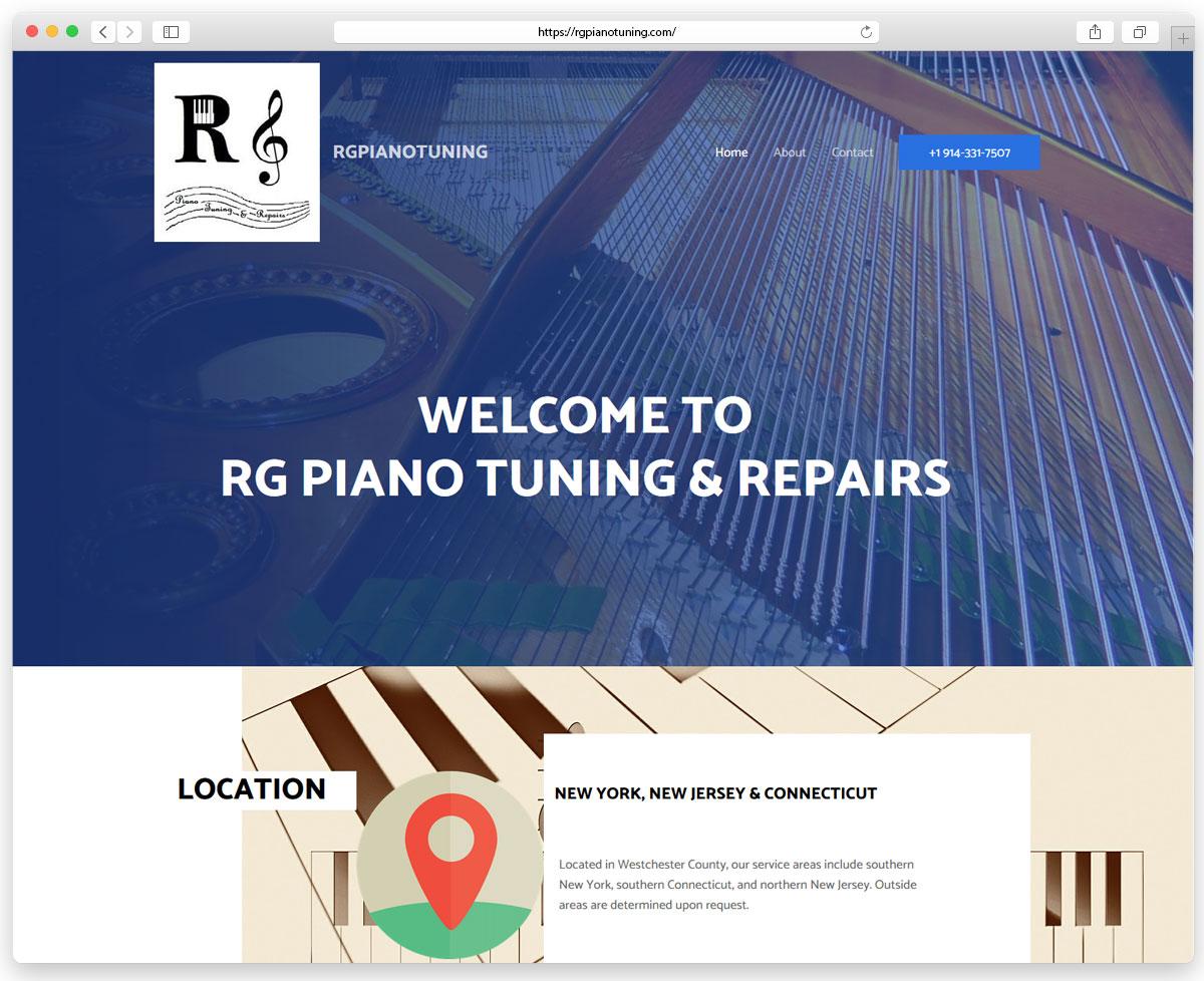 RG Piano Tuning & Repairs - Сайт налаштування та ремонту фортепіано